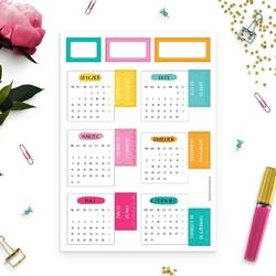 Naklejki zakładki kalendarzowe 2020