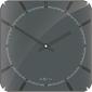 Kwadratowy zegar ścienny michael dome nextime 35 x 35 cm, szary 3173