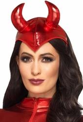 Opaska na głowę czerwone rogi diablicy
