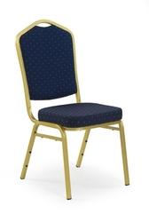 Krzesło do jadalni k66 niebieskie złote