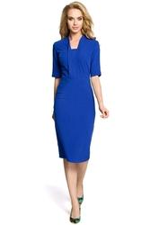 Chabrowa Elegancka Sukienka Ołówkowa z Rękawem 12