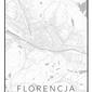 Florencja mapa czarno biała - plakat