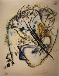 Reprodukcja watercolour with seven strokes, wassily kandinsky