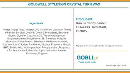 Goldwell crystal turn, żel podkreślający skręt loków, chroni przed wilgocią 100ml