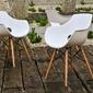 Krzesło z podłokietnikami grento białe skandynawskie
