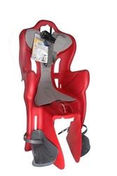 Fotelik rowerowy belleli b-1 standard mocowanie na rurę podsiodłową czerwony