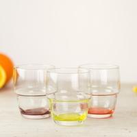szklanki do drinków 200 ml z kolorowym dnem 6 szt.