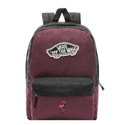 Plecak szkolny vans realm prune purple black - vn0a3ui6tqr - custom flamingo - flamingo