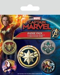 Captain Marvel Patches - przypinki