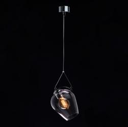 Lampa wisząca fioletowy klosz na stalowej lince regenbogen megapolis 606010701
