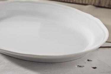 Karolina alba biała półmisek owalny 28 x 20 cm 0000