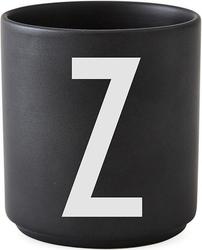 Kubek porcelanowy AJ czarny litera Z