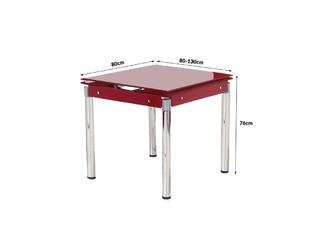 Stół rozkładany 80-130x80cm kent czerwony