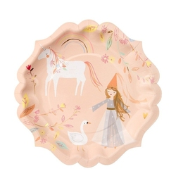 Meri meri duże talerzyki magiczne księżniczki