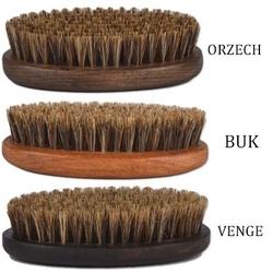 Kartacz do brody z naturalnym włosiem dzika w średnim rozmiarze buk - jasny brąz