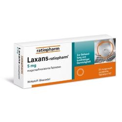 Laxans ratiopharm 5 mg tabl. magensaftr.