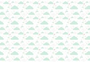 Miętowe chmurki - fototapeta