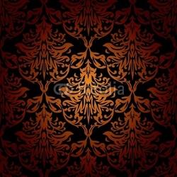 Naklejka samoprzylepna Czerwony pomarańczowy i czarny bez szwu powtarzające się tapety