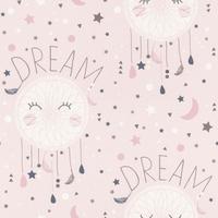 Tapeta łapacz snów dream bambino pudrowy róż 248753
