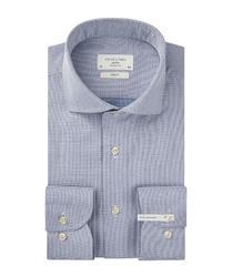 Męska niebieska koszula twill extra długa 37