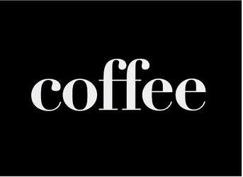 Plakat typograficzny coffee 40 x 50 cm