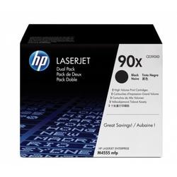 Hp 90x zestaw 2 oryginalnych wkładów z czarnym tonerem laserjet xl