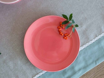 Talerz deserowy porcelanowy altom design monokolor koralowy 19 cm