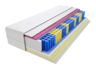 Materac kieszeniowy zefir molet max plus 150x155 cm miękki  średnio twardy 2x visco memory