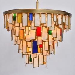 Lampa wisząca, szklane, kolorowe płytki morocco regenbogen megapolis 185011215