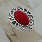Ragazzia - srebrny pierścionek z koralem