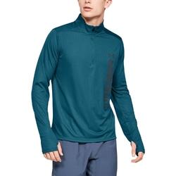 Bluza męska ua speed stride split 14 zip - zielony