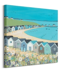 Chatki na plaży - obraz na płótnie