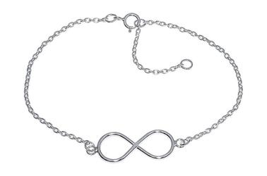 Modna srebrna bransoletka infinity