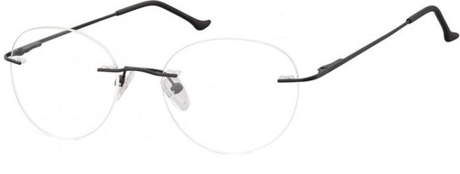 Bezramkowe oprawki okrągłe korekcyjne sunoptic 985 czarne
