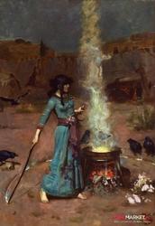 magiczne koło - john williams waterhouse ; obraz - reprodukcja