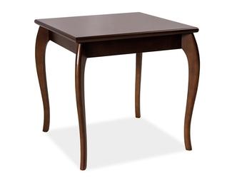 Klasyczny stolik maria ii z kwadratowym blatem  wys. 74 cm