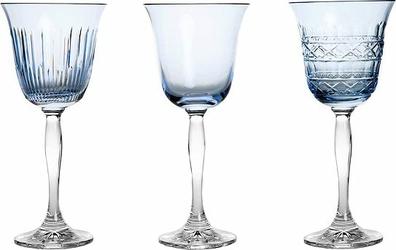 Kieliszki do wina Veranda 3 szt. błękitne