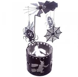 Pająki i pajęczyny - karuzelka napędzana ciepłem świeczki