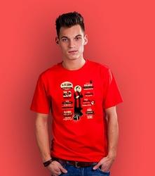 Popiełuszko t-shirt męski czerwony s