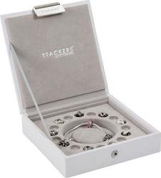 Pudełko na bransoletkę i charmsy stackers białe