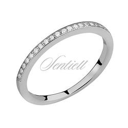 Srebrny delikatny pierścionek pr.925 cyrkonia biała