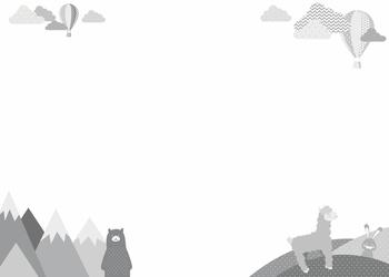 Tablica suchościeralna dla dzieci miś góry balony 379