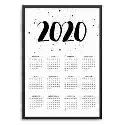 Watercolor - kalendarz w ramie , wymiary - 70cm x 100cm, kolor ramki - czarny
