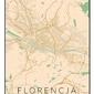 Florencja mapa kolorowa - plakat wymiar do wyboru: 61x91,5 cm