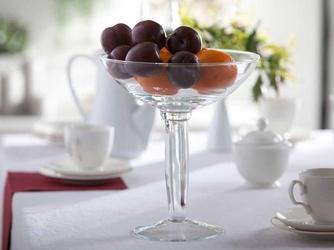 Patera na owoce  owocarka szklana na nóżce edwanex 27 cm