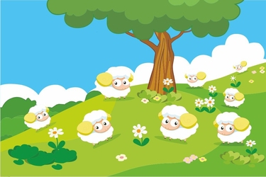 Fototapeta dla dzieci owieczki 1302