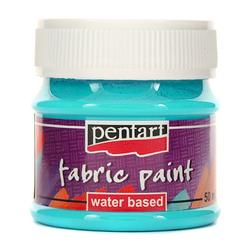 Farba do tkanin Pentart 50 ml - niebieski jasny - NIEJAS