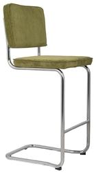 Zuiver stołek barowy ridge kink rib zielony 25a 1500010