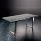 Stół catania obrzeża ciosane szary piaskowany, 220x100 cm grubość 5,5 cm