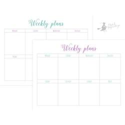 Arkusze planerowe 20x15 cm 6 szt.- Weekly plans - WEPL